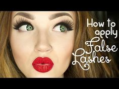 How to apply false eye lashes & make them more comfortable - YouTube