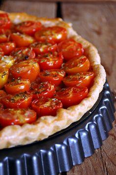 Crostata di pomodorini