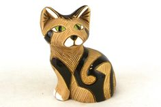 Artesania Rinconada Animal Sculpture Brown Tabby Cat Uruguay Pottery Figurine | eBay