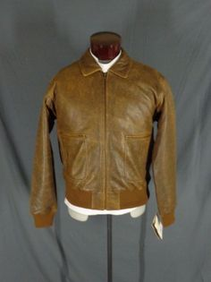 Scully Brown Lambskin Leather Flight-Aviator-bomber jacket-46-front