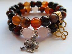 Agate & jadeite bracelet