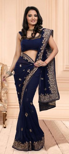 dark navy blue saree - Google Search