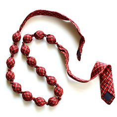 Necktie | Necktie Necklace Recycled Red Silk Tie by prixprix on Etsy