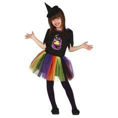 Disfraz de Bruja Arco Iris para niña