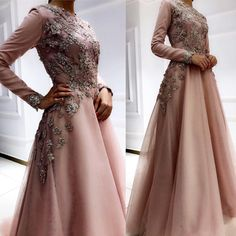 Image may contain: 1 person, standing and wedding Muslimah Wedding Dress, Muslim Wedding Dresses, Evening Dresses For Weddings, Bridal Dresses, Dress Brokat Muslim, Muslim Gown, Simple Long Dress, Graduation Dresses Long, Abaya Mode