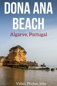 Praia Dona Ana Algarve Portugal - Discover one of the most famous Algarve beaches and even Portugal Beaches. Located near Lagos, Dona Ana combines large sandy area with stunning sea stacks and cliffs… all that at just a 5min drive from the city center! Ph