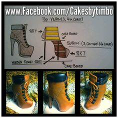 Perform a boot by CAKES BY TIMBO   Tutorial on making off:https://www.facebook.com/photo.php?fbid=327643724036877=a.327641827370400.1073741849.161101244024460=3