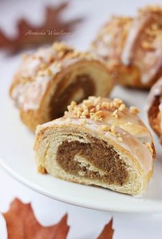 Arabeska : Rogale świętomarcińskie Doughnut, French Toast, Sweets, Cookies, Breakfast, Recipes, Food, Christmas, Bakken
