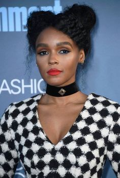 Critic's Choice Awards 2017 Janelle Monae opted for double buns which gave this look a distinct 90s feel.