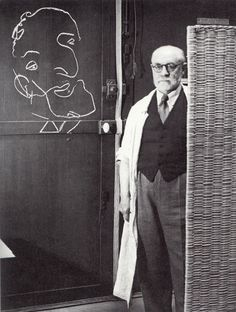Matisse with chalk drawing of Picasso- Brassai Photo