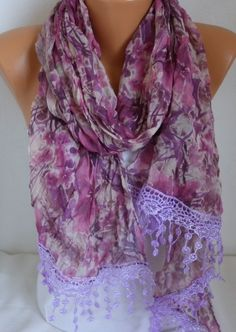 ON SALE  Floral  Scarf Shawl Women Scarf Multicolor by fatwoman