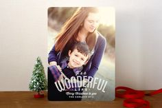A Wonderful Life Holiday Photo Cards by b.wise papers at minted.com