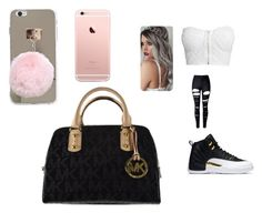 """cute ahh"" by pettyallthe on Polyvore featuring WithChic, NLY Trend and Michael Kors"