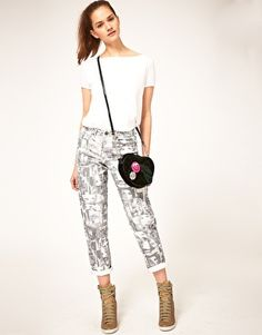 Face Print Jeans~ For a totally unique attention grabbing look!
