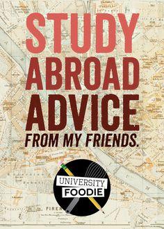 Study Abroad Advice | universityfoodie.com