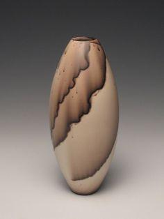 horsehair vase; lwpottery