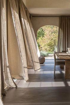 Modern House Design, Modern Interior Design, Home Design, Interior Architecture, Interior And Exterior, Design Interiors, Ibiza Style Interior, Interior Design Curtains, Architecture Wallpaper