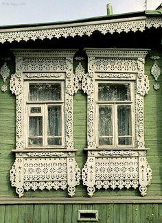 Дом с резными наличниками в Ивановской области/Сarved house, Ivanovo oblast, Russia