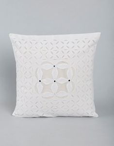 Organdy Applique Nafis Cushion Cover Cushion Covers Online, Cushion Cover Designs, Bed Linen, Linen Bedding, Soft Furnishings, Home Gifts, Bed Sheets, Applique, Cushions