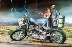 david mann's motorcycle art   artwork for Easyriders , Usa, 80's