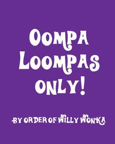 Wonka Party Printable