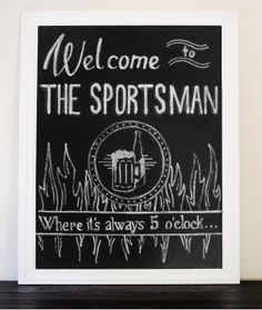 Custom Chalkboard Sign Handmade & Personalized by TreanneSchuttArt, $20.00