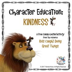 Kindness is a character trait we strive for in our classrooms, as well as our communities.  This poster/activity set is designed to have students think about ways to show kindness in their lives.