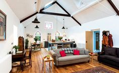 tin chapel renovation with open plan kitchen and living space
