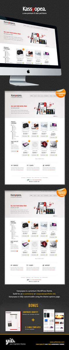Kassyopea All In One: Ecommerce + Corporate by Your Inspiration , via Behance