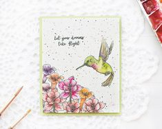 Happy Monday, my crafty friends! Welcome to the Hero Arts February 2018 My Monthly Hero Kit Blog Hop. If you came from the amazing Yana Smakula's blog, you are right on track! To celebrate a release of the February 2018 My Monthly Hero Kit, I created a one layer watercolor card using following stamp sets from Hero Arts: Hummingbirds and Come Fly …