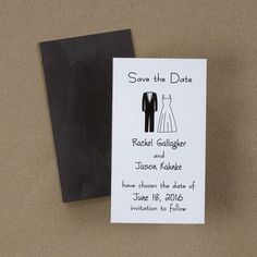 Tux And Gown - Save the Date Magnet - Save the Date - Wedding Ideas