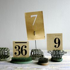 Table Numbers with frogs - need more frogs, not for table numbers, but these examples of frogs are great!