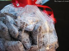 So simple, but so good. Muddy Buddies. Or Chex + Chocolate + Peanut Butter + Powdered Sugar.