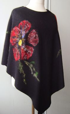 Hand Painted Dress, Felt Crafts, Diy And Crafts, Scarves, Bell Sleeve Top, Plus Size, Kaftans, Womens Fashion, Floral