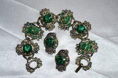 Green Matrix w/Rhinestone Demi by LustfulJewels on Etsy, $38.00