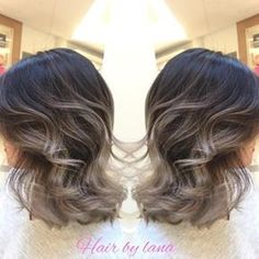 grey balayage short hair - Google Search
