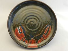 Maine Lobster Dinner Plate by PeasleyPottery on Etsy