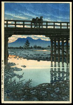 Kawase Hasui Japanese Woodblock Print First State Post-War Printing