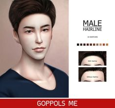 GPME Male Hairline by GOPPOLS Me for The Sims 4