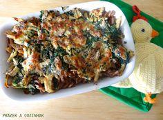 Prazer a cozinhar: Gratinado de frango e espinafres