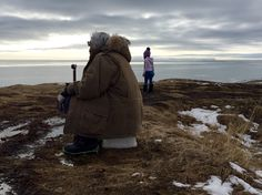 My Grandpa and Niece.  Yup'ik Eskimo. Togiak, Alaska Togiak Bay Off the cliff, overlooking the ocean