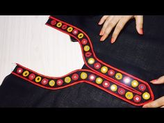 New Neck Designs - With Button and Anchor Thread - Easy Making in Hindi - YouTube