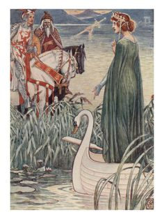 The Lady of the Lake Walter Crane.