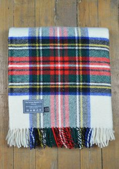 Heritage Wool Blanket in Stewart Dress Tartan