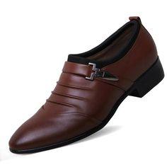 Men's Oxford Buckle Strap Dress Shoes