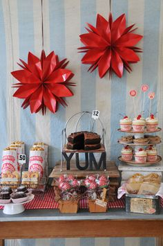 Yummy dessert table...