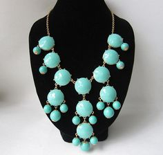 light blue bubble necklaceholiday partybridesmaid by Arkpearl, $16.00