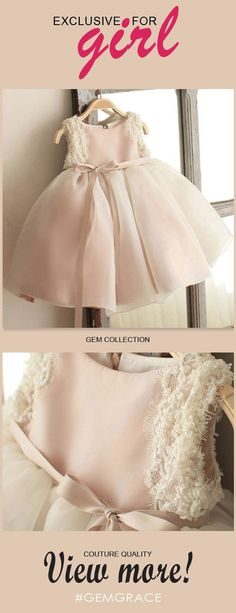 Only $64.99, Flower Girl Dresses Vintage Blush Pink Tulle Flower Girl Dress Tutus Wedding Dress For Girls #TG7005 at #GemGrace. View more special Flower Girl Dresses now? GemGrace is a solution for those who want to buy delicate gowns with affordable prices, a solution for those who have unique ideas about their gowns. Click to shop now! #flowergirldresses
