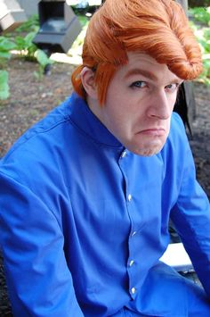 Ahahaha, spot on cosplay of Kuwabara from Yu Yu Hakusho.