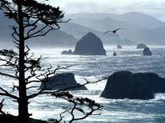 Cannon Beach, Oregon. From Ecola State Park